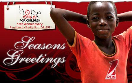 Auguri di buone feste da OneSails e Hope for Children