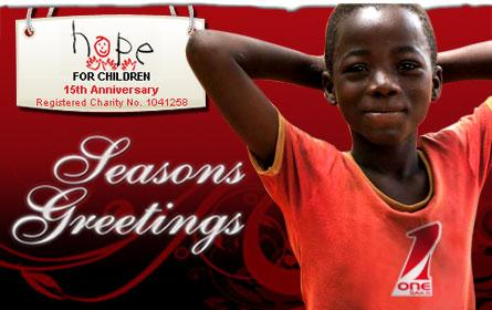 Seasons Greetings from OneSails and Hope for Children