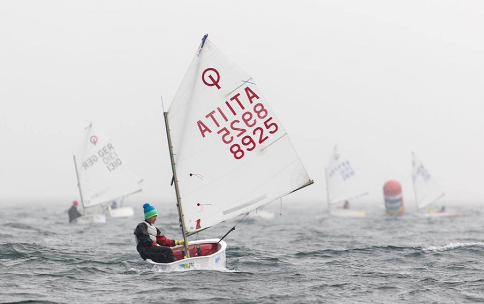OneSails winner over a record breaking 1.066 Optimist fleet!
